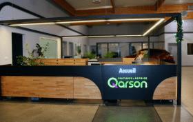 Accueil du showroom Qarson