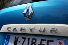 Renault Captur gros plan coffre