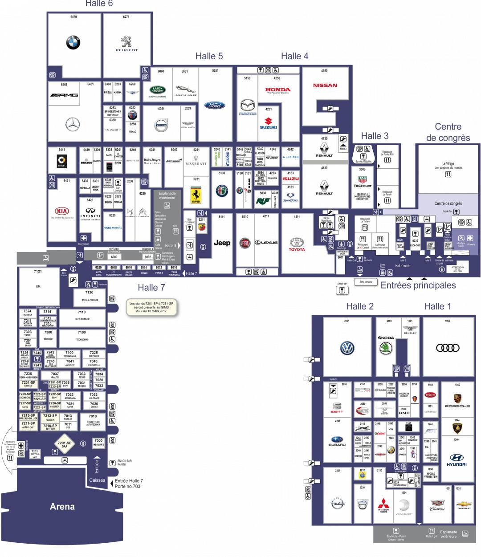 Plan Salon de Genève 2017 Palexpo