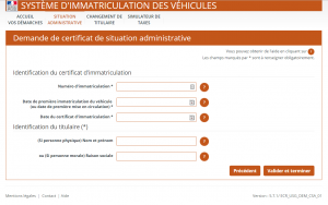 Service en ligne certificat de situation administrative