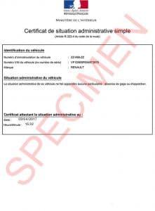 certificat situation administrative simple : declarationdecession.com