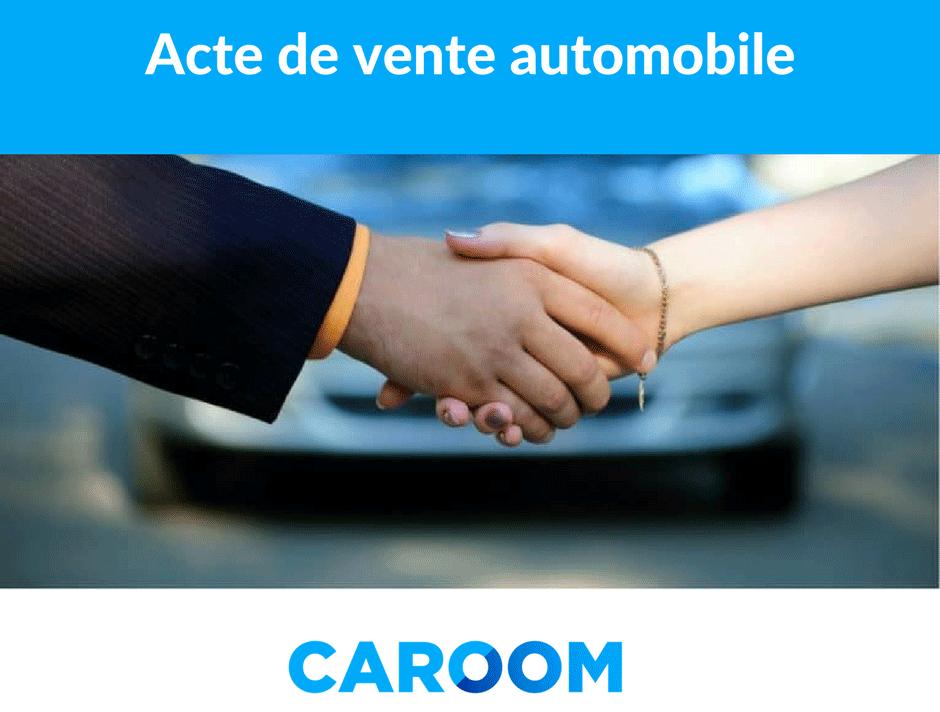 acte de vente pour vente automobile