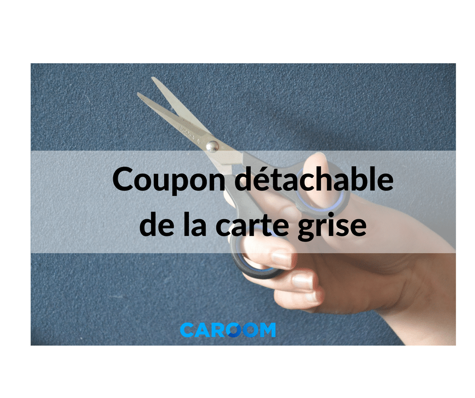 coupon détachable de la carte grise