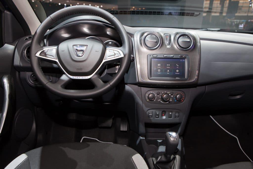 Intérieur de la Dacia Sandero Stepway