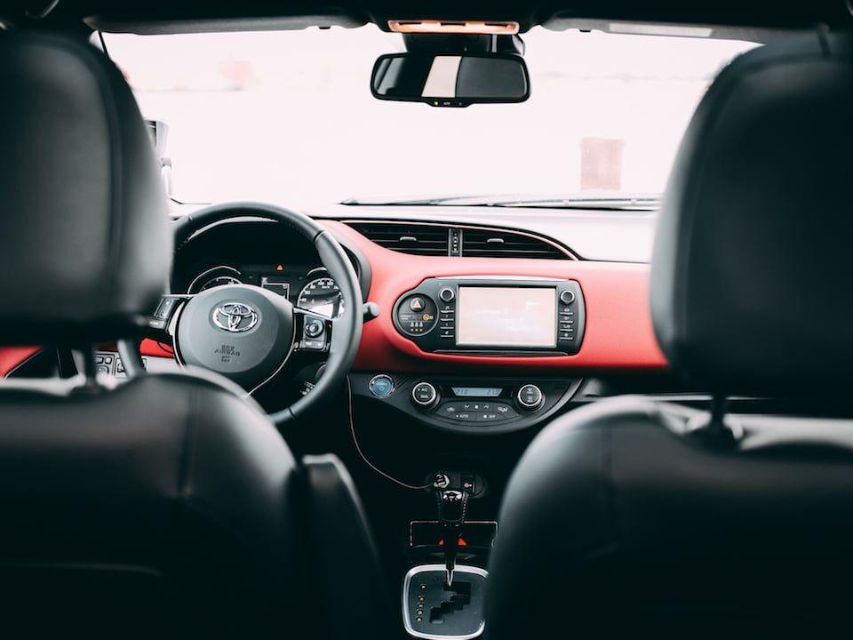 Intérieur de la Toyota Yaris