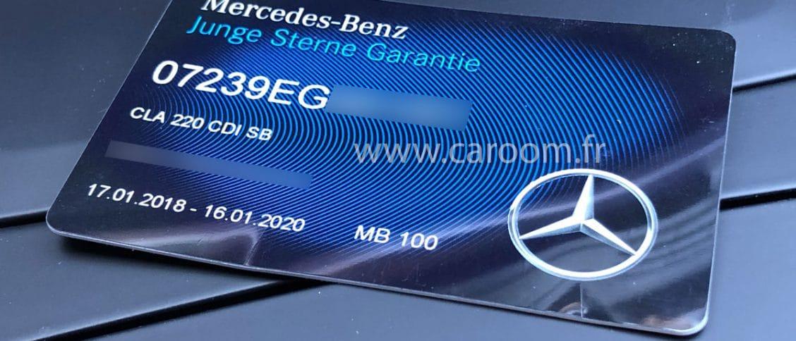 La carte de garantie Junge Sterne de Mercedes