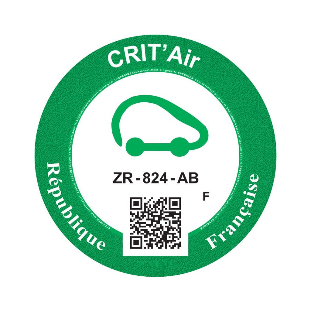 Crit'Air 0 pastille verte