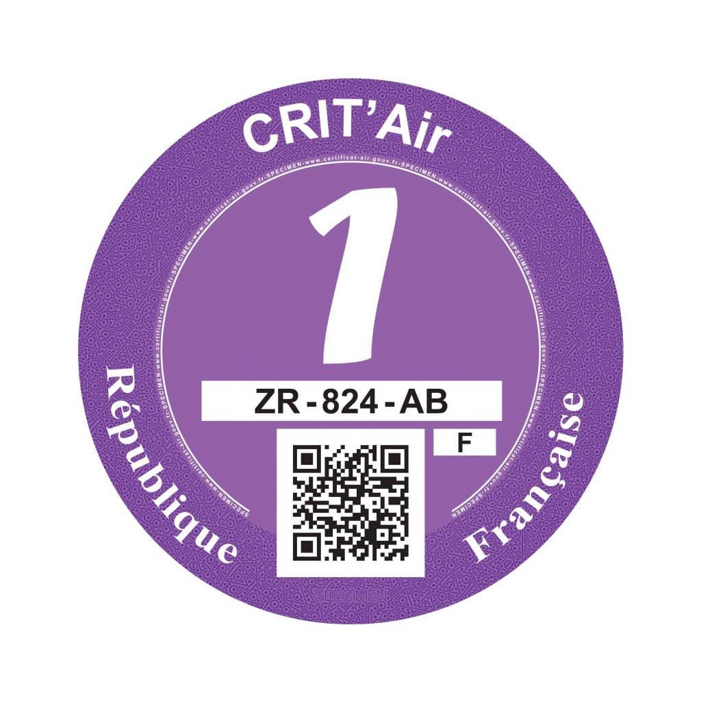 Crit'Air 1 pastille violette
