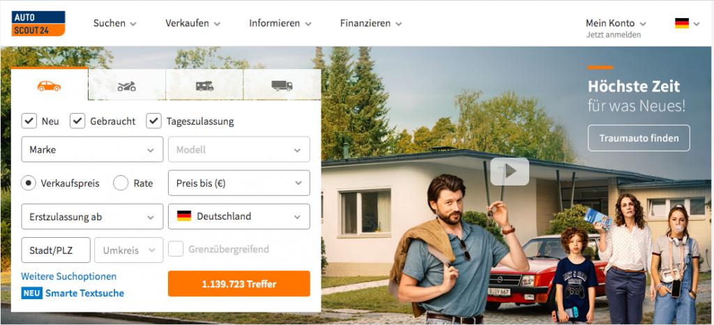 Autoscout24.de est une référence dans l'achat et la vente de voitures d'occasion en Allemagne.
