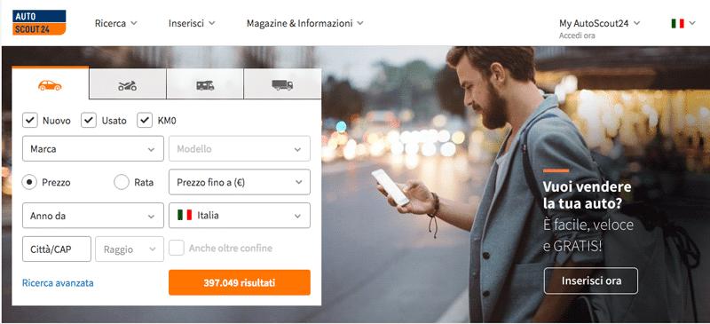 Autscout24.it est le leader dans la petite annonce automobile en Italie.