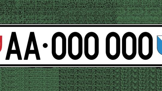 Plaque d'immatriculation Suisse