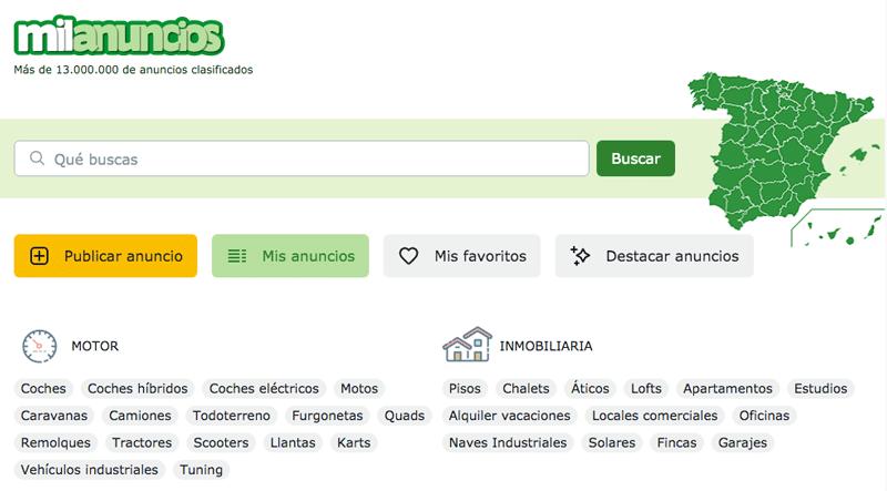 Milanuncios, leboncoin en espagne, site de petites annonces de voitures et autres produits, neufs et d'occasion.