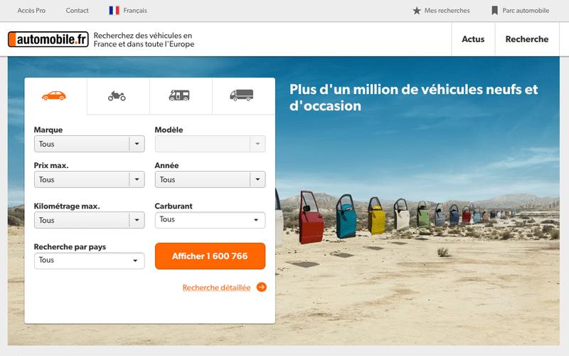 Mobile.de ou Automobile.fr est le leader en matière de petite annonce auto en Allemagne.