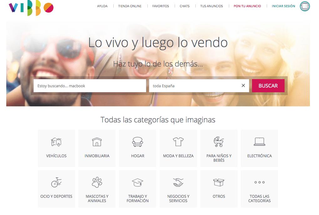 Vibbo, un site de petites annonces similaire à Leboncoin version espagnole.