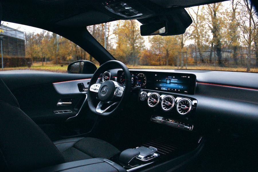 L'intérieur de la Mercedes Classe A