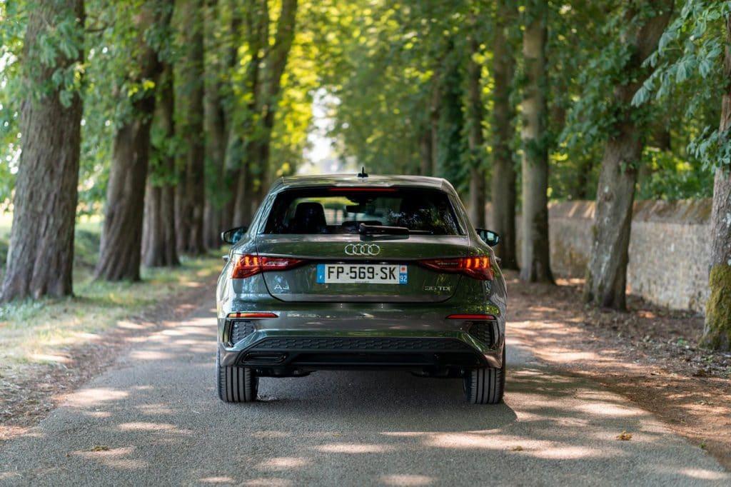 Vue du coffre de l'Audi A3 Sportback 2020