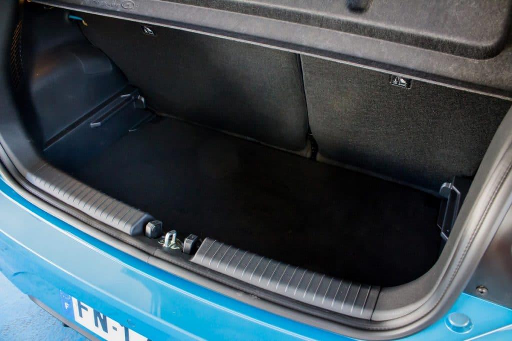 Test du volume de coffre de la Hyundai i10
