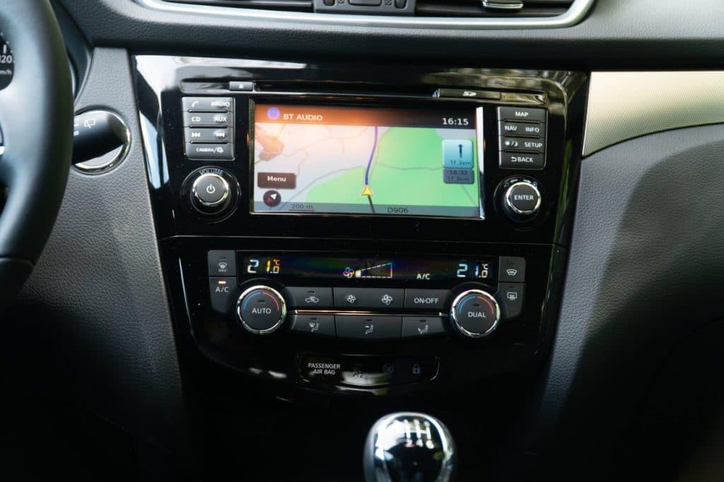 La console centrale du Nissan Qashqai
