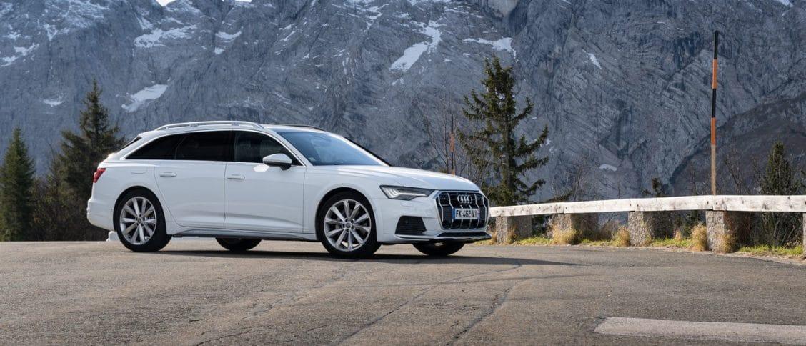 Le profil de l'Audi A6 allroad.
