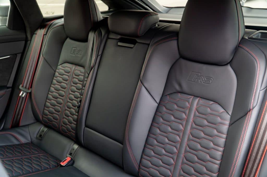 Banquette arrière de l'Audi RS6 Avant