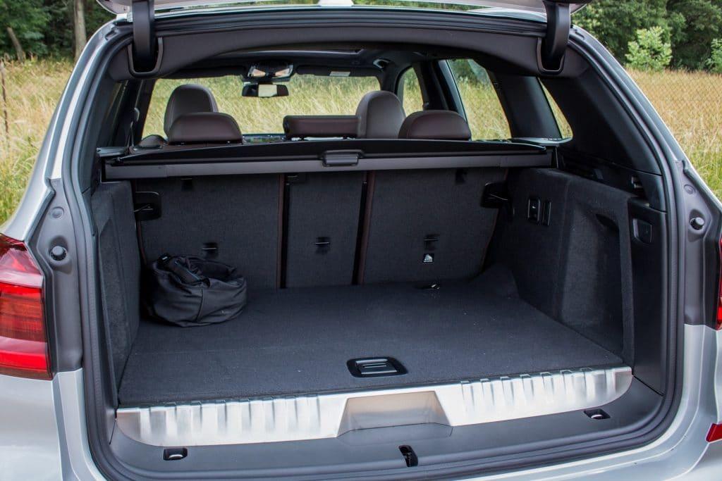 Coffre du BMW X3 hybride