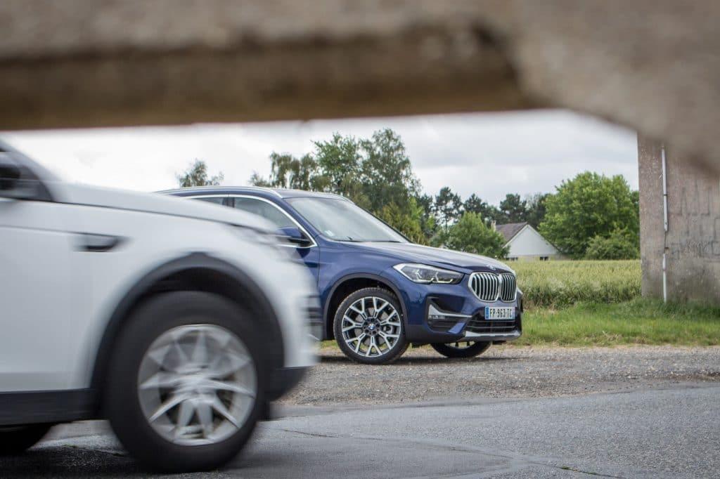 Vue de profil Vue arrière du BMW X1 xDrive e25