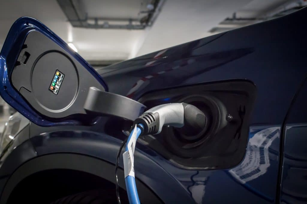 Prise électrique Vue arrière du BMW X1 xDrive e25