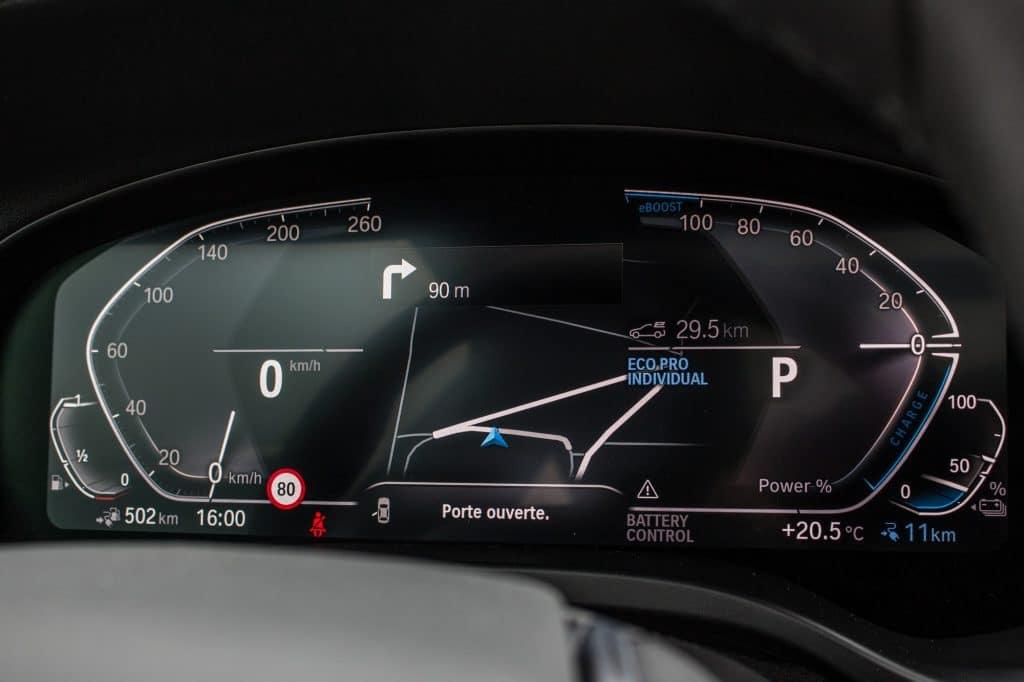 Tableau de bord du BMW X3 xDrive 30e