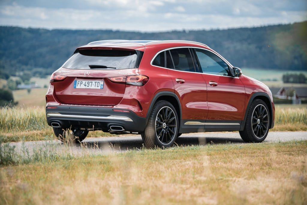 Vue arrière du nouveau Mercedes GLA