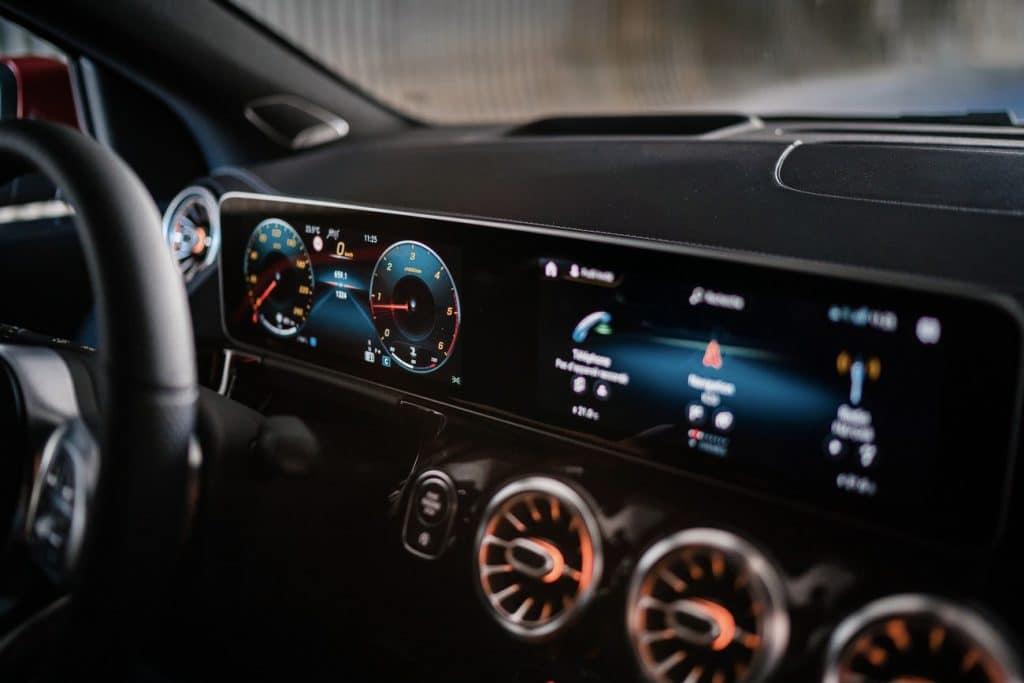 Tableau de bord du nouveau Mercedes GLA