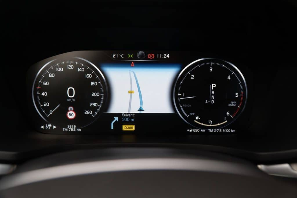 Tableau de bord du Volvo V60
