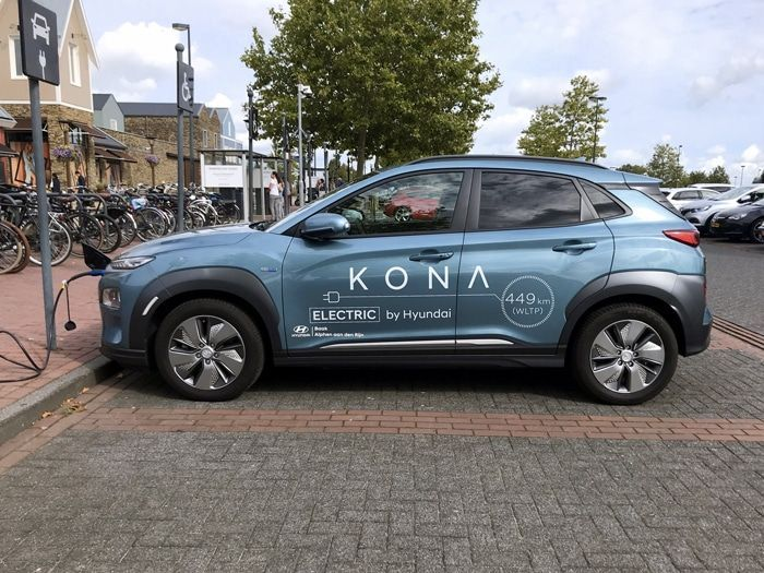 Hyundai Kona Electric en train de charger