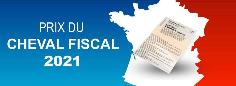 Prix du cheval fiscal 2021 par région et département français