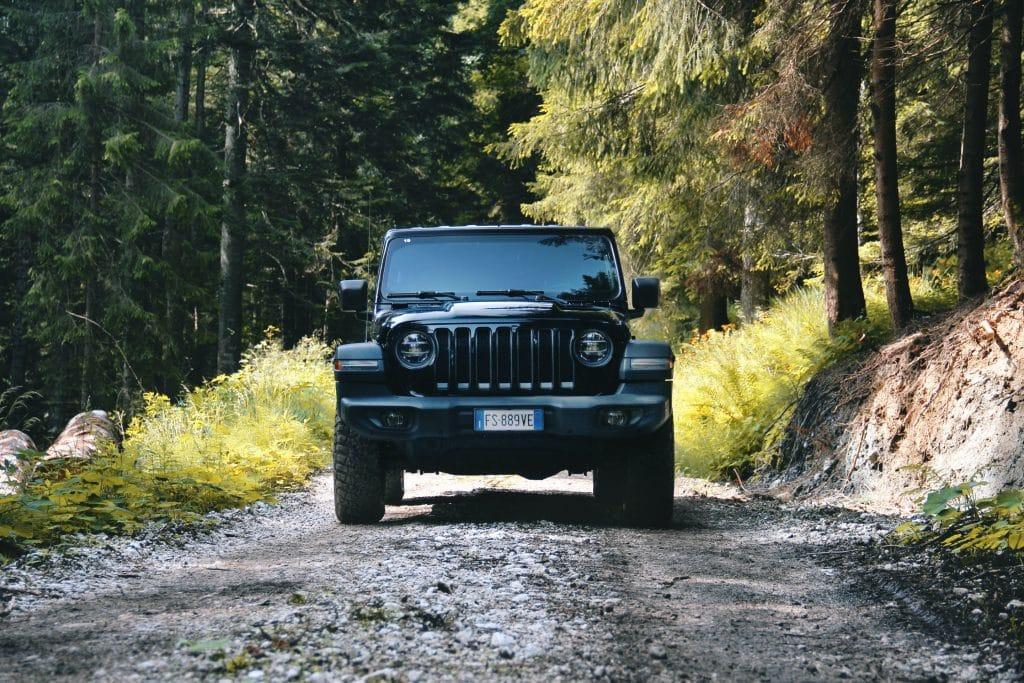 L'avant du Jeep Wrangler