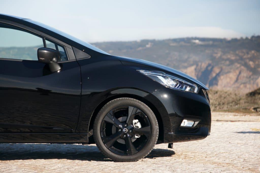 L'avant de la Nissan Micra