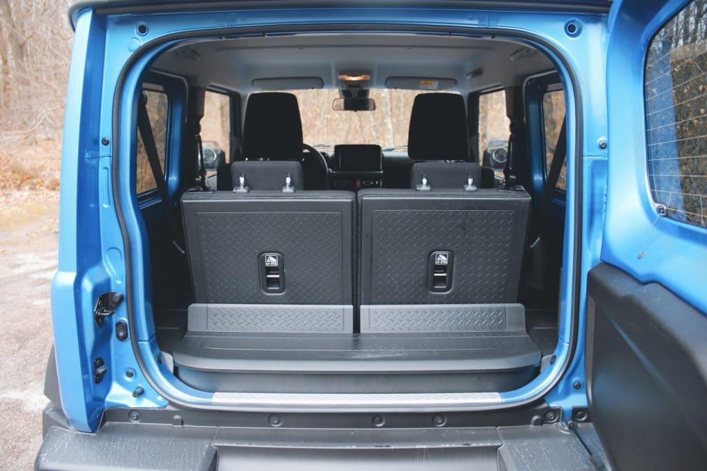 Le coffre du Suzuki Jimny