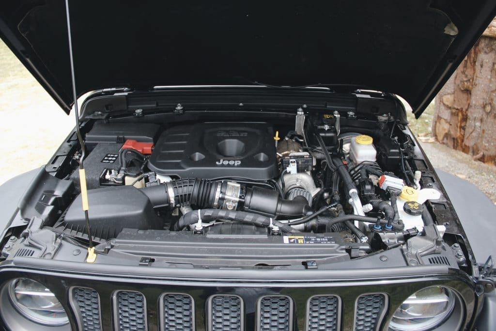 Le moteur du Jeep Wrangler