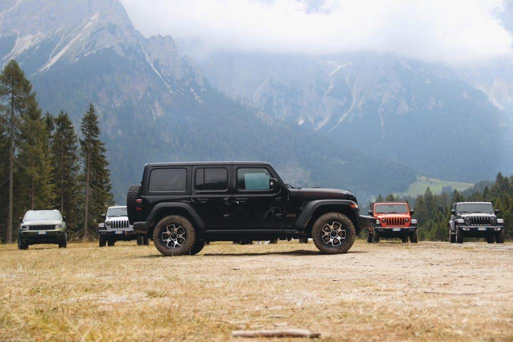 Vue de profil du Jeep Wrangler