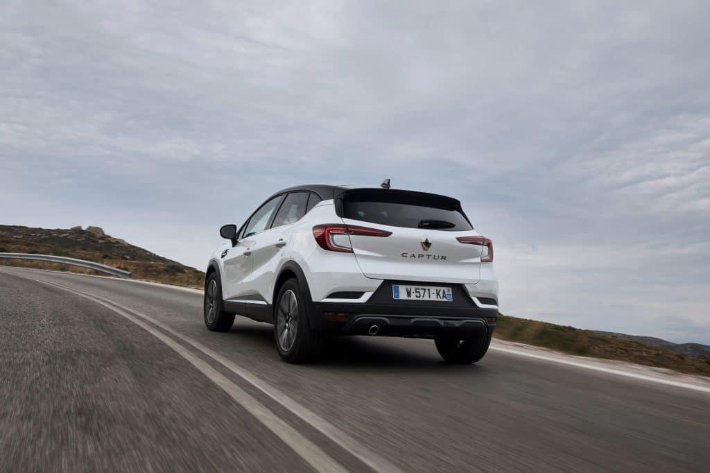 Vue arrière du Renault Captur