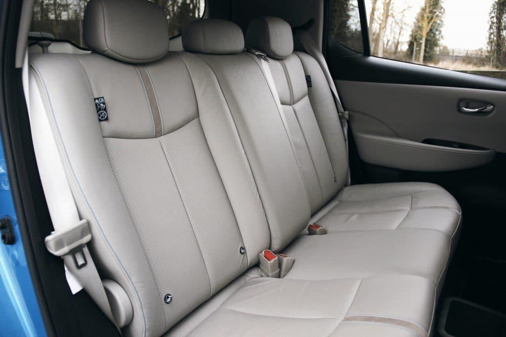 Banquette arrière de la Nissan Leaf e+