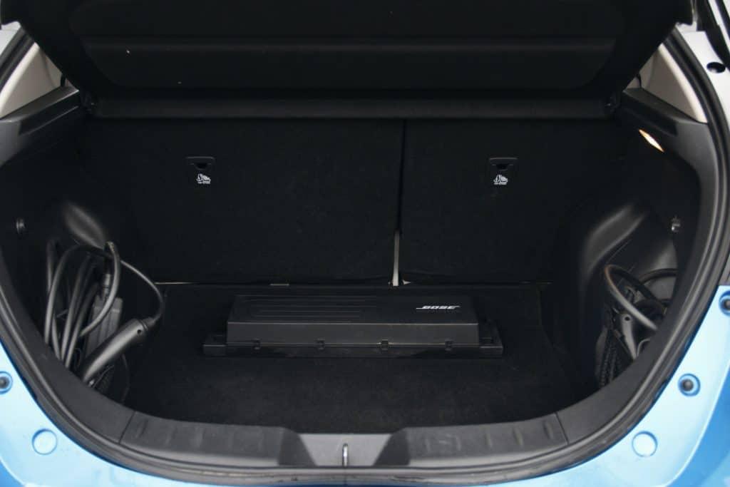 Coffre de la Nissan Leaf