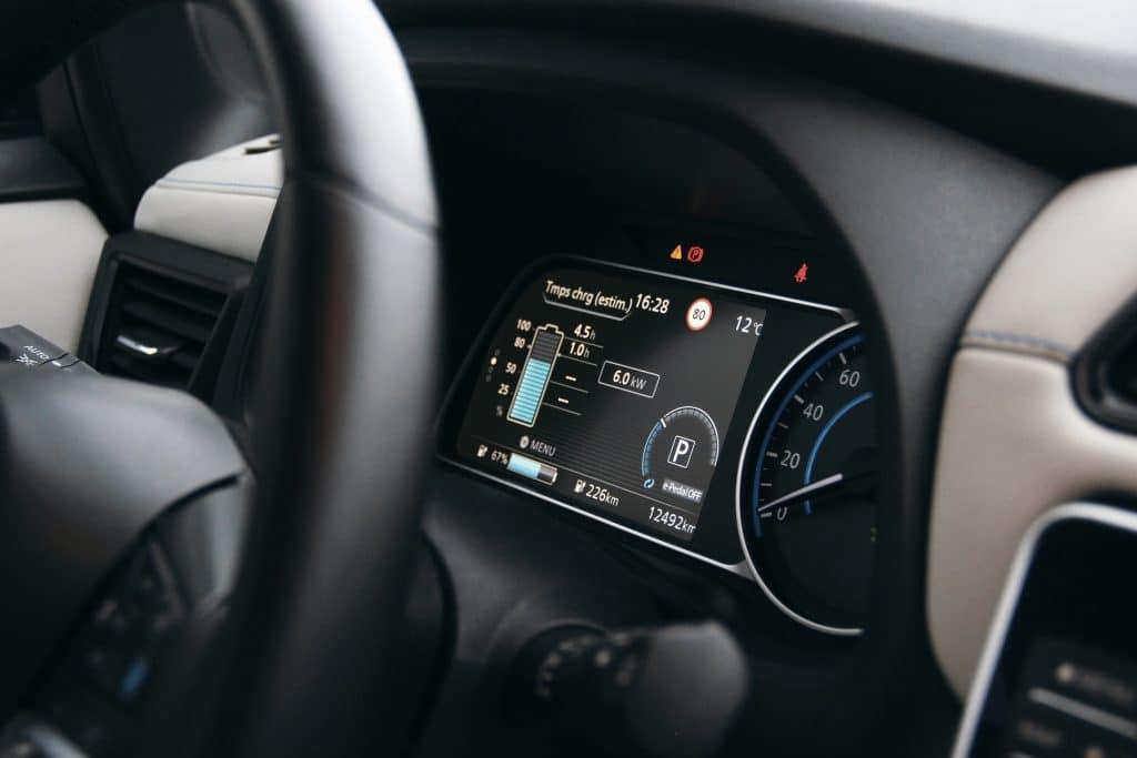 Compteur de la Nissan Leaf e+