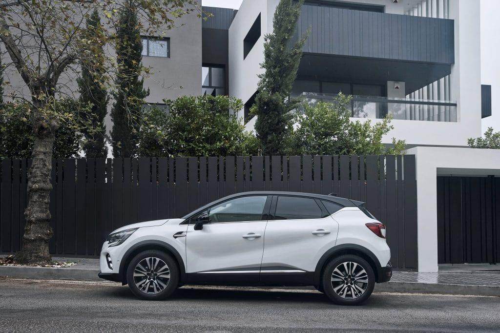 Vue de profil du Renault Captur