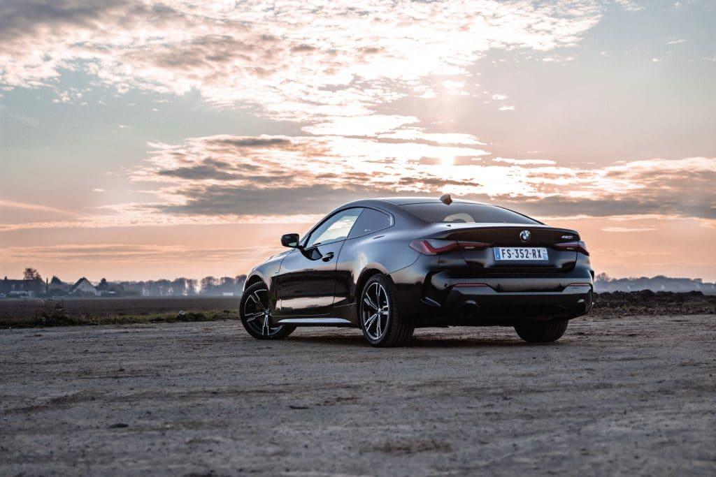 Arrière de la BMW Série 4 Coupé
