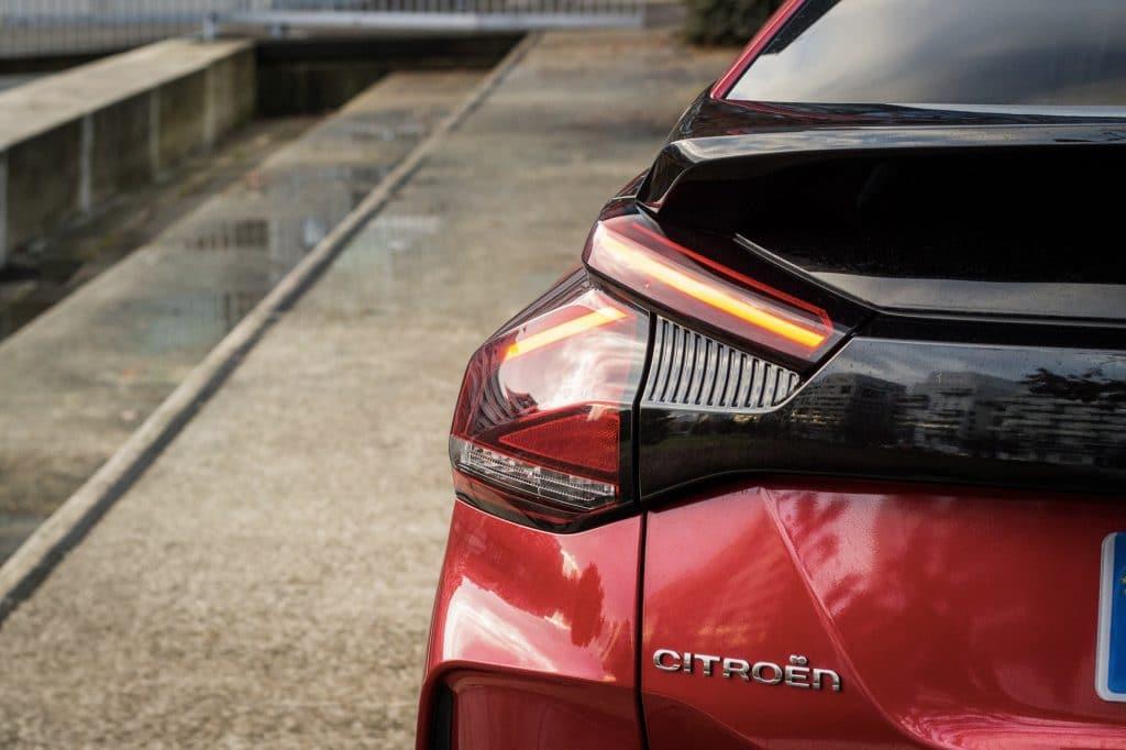 Arrière de la Citroën C4