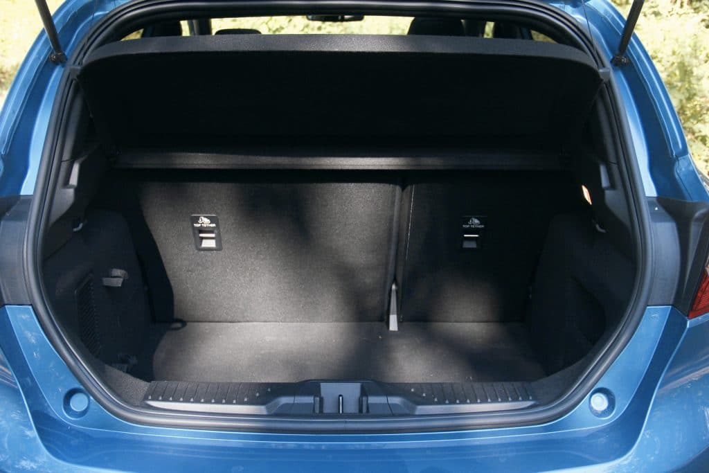 Coffre de la Ford Fiesta ST