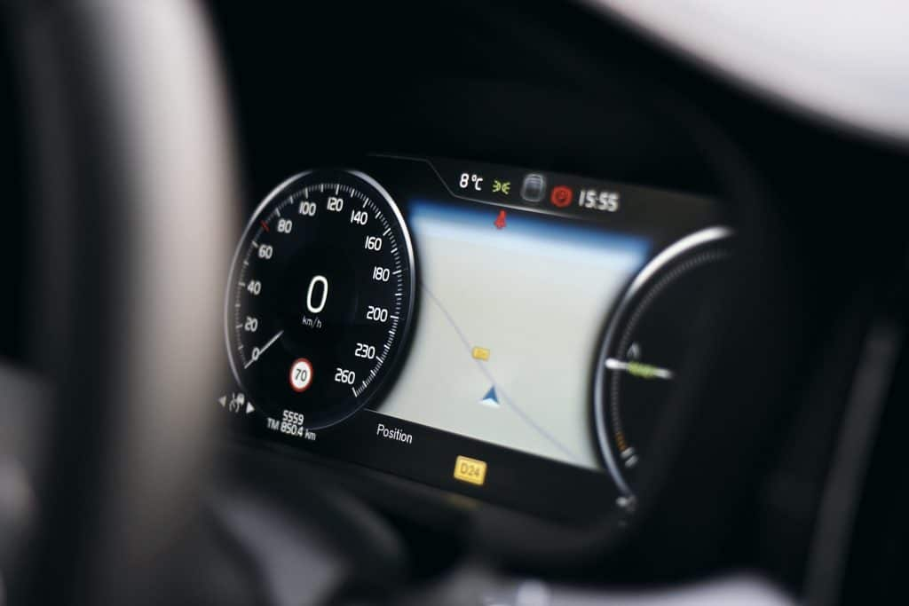 Compteur de la Volvo S60 Polestar Engineered