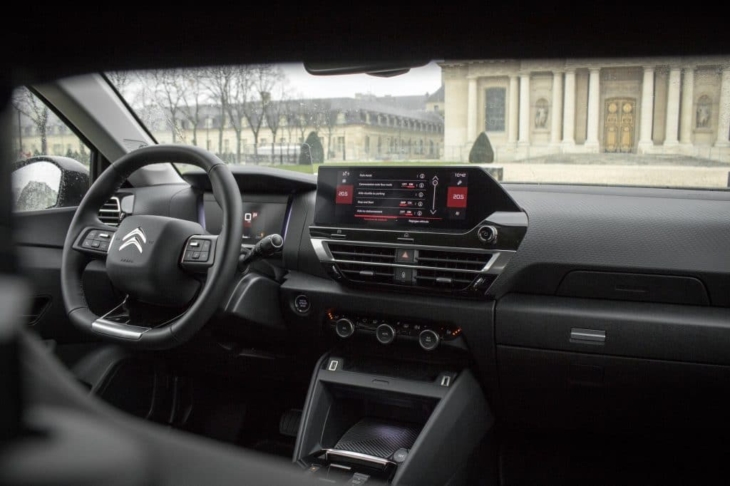Intérieur de la Citroën C4