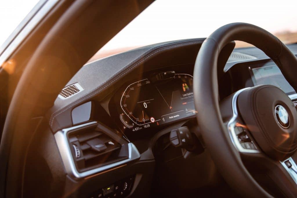 Poste de conduite de la BMW Série 4 Coupé