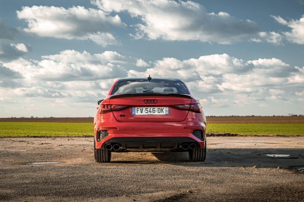Arrière de l'Audi S3 berline